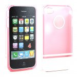 Wholesale iPhone 4 4S Two Tone Case (PinkWhite)