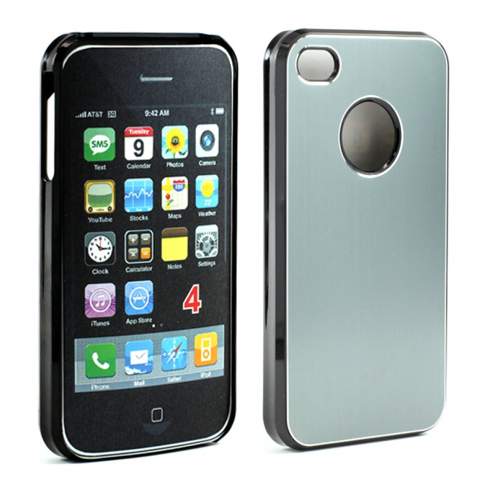 87ed8ed212b0d7 Wholesale iPhone 4 4S Aluminum Snap On Case (Gray)
