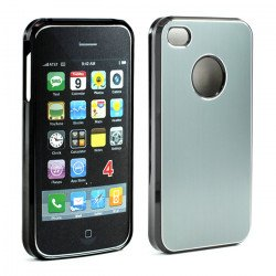 iPhone 4 4S Aluminum Snap On Case (Gray)