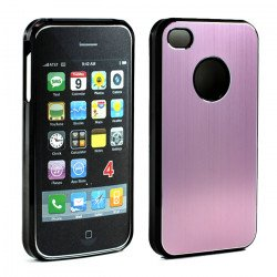 iPhone 4 4S Aluminum Snap On Case (Pink)