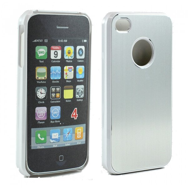 Wholesale iPhone 4 4S Aluminum Snap On Case (Sliver)