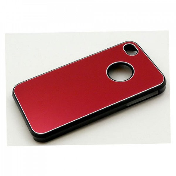 Wholesale iPhone 4 4S Aluminum Snap On Case (Red)