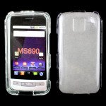 Wholesale LG Optimus M MS690 Hard Protector Cover (Clear)