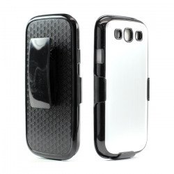 Samsung Galaxy S3 / i9300 Aluminum Case with Holster Clip (Silver)