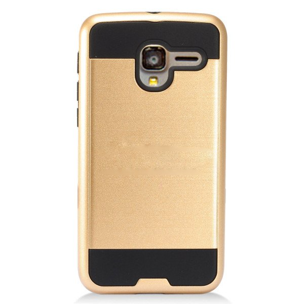 Wholesale Alcatel Stellar Tru 5065N Iron Shield Hybrid Case (Champagne Gold)