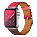Wholesale Swift Leather Band Loop Strap Wristband Replacement for Apple Watch Series 4 / 3 / 2 / 1 Sport - 44MM / 42MM (Hot Pink)