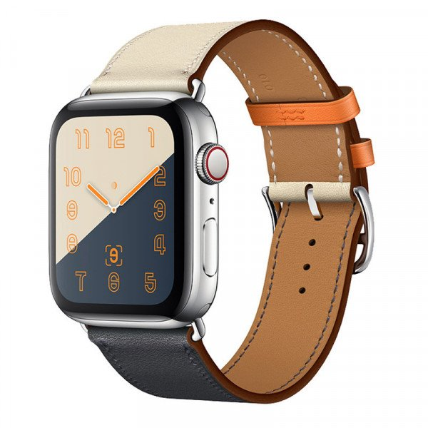 Wholesale Swift Leather Band Loop Strap Wristband Replacement for Apple Watch Series 4 / 3 / 2 / 1 Sport - 44MM / 42MM (Orange)