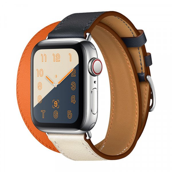 Wholesale Tour Leather Band Loop Strap Wristband Replacement for Apple Watch Series 4 / 3 / 2 / 1 Sport - 40MM / 38MM (Orange)