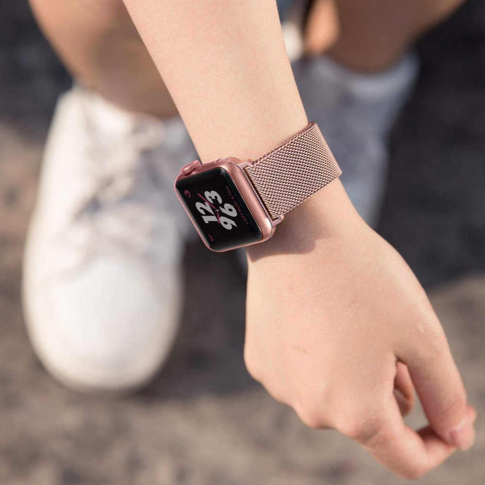new concept 5f8c4 75546 Wholesale Premium Color Stainless Steel Magnetic Milanese Loop Strap  Wristband for Apple Watch Series 4 / 3 / 2 / 1 Sport - 44MM / 42MM (Rose  Gold)