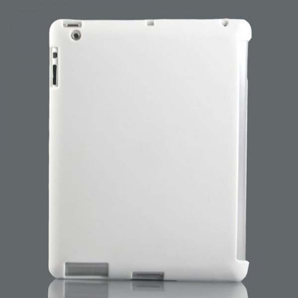 Wholesale iPad 2 3 4 Smart Cover Compatible Companion TPU GEL Case (White)