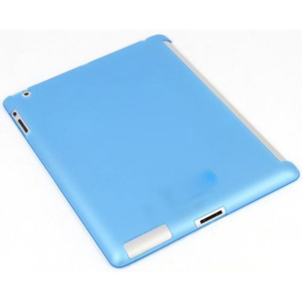 Wholesale iPad 2 3 4 Smart Cover Compatible Companion TPU GEL Case (Blue)