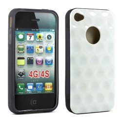 iPhone 4 4S Circle Gummy Case (White Smoke)