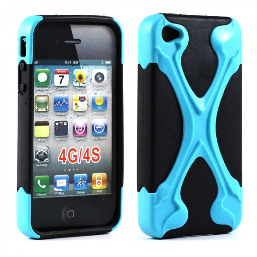 detailed look ddf0c 92b65 Wholesale iPhone 4 4S X Case (Blue-Black)