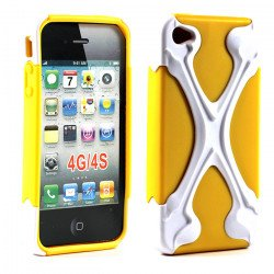 iPhone 4 4S X Case (White-Yellow)