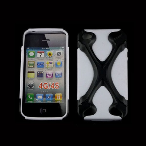Wholesale iPhone 4 4S X Case (Black-White)