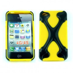 iPhone 4 4S X Case (Black-Yellow)