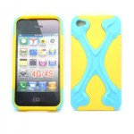 Wholesale iPhone 4 4S X Case (Blue-Yellow)