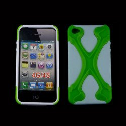 iPhone 4 4S X Case (Green-White)