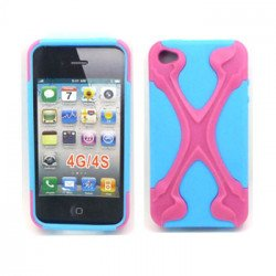 iPhone 4 4S X Case (Pink-Blue)