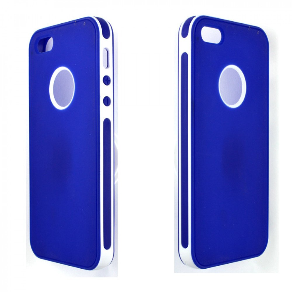 cheap iphone 5 cases iphone 5 5s 2 in 1 hybrid white blue 13789