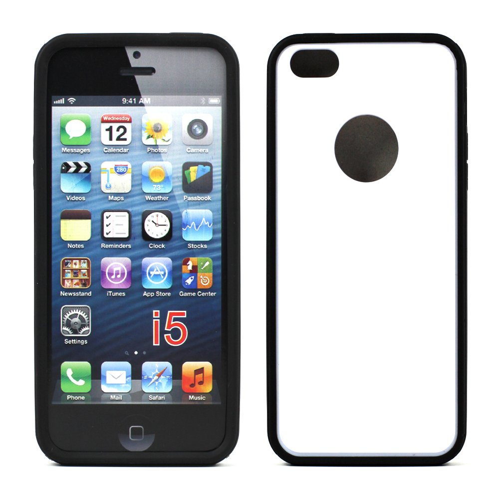 cheap iphone 5s cases iphone 5 5s gummy hybrid black white 13792