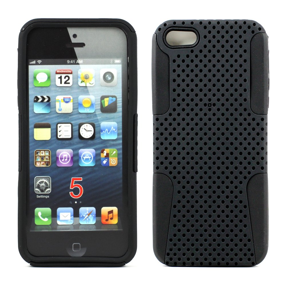 cheap iphone 5 cases iphone 5 5s mesh hybrid black 13789