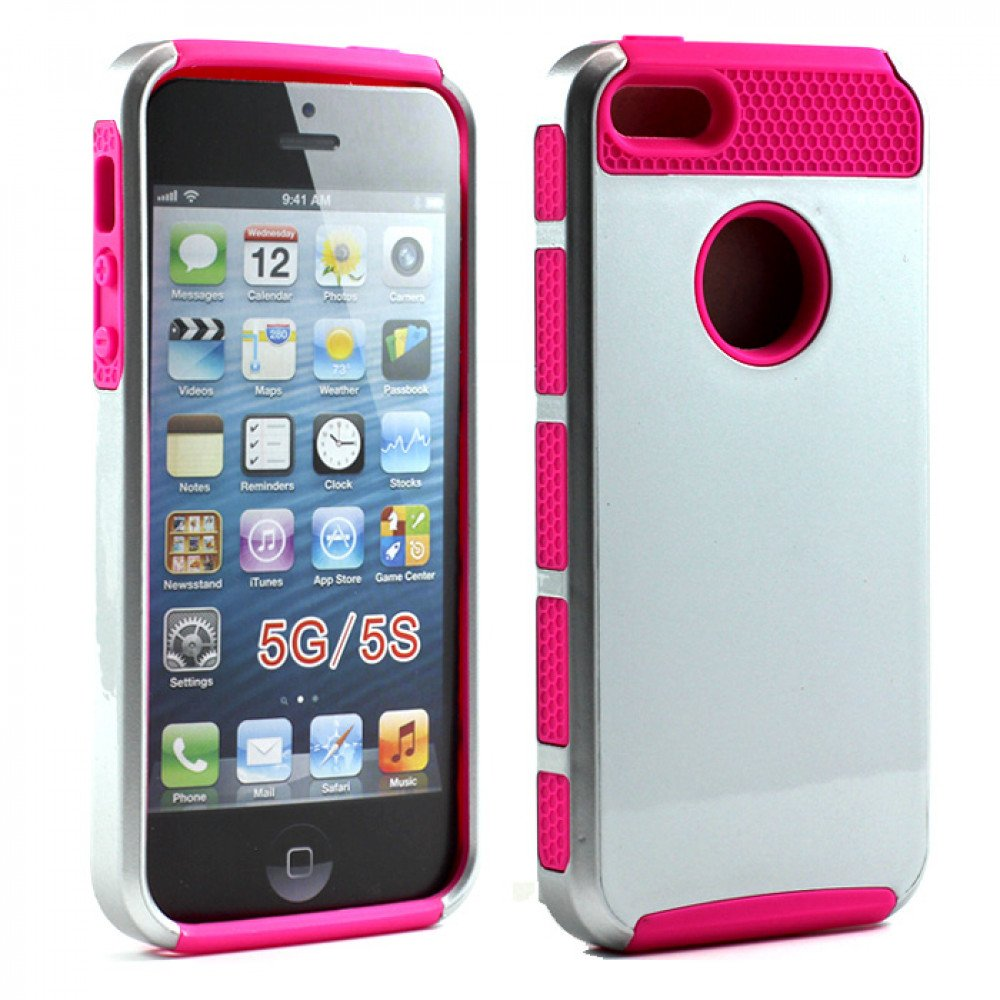 iphone 5s cheap price iphone 5s 5 slim armor hybrid silver hotpink 14779