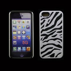 iPhone 5 5S Zebra Hybrid Case (White-Black)