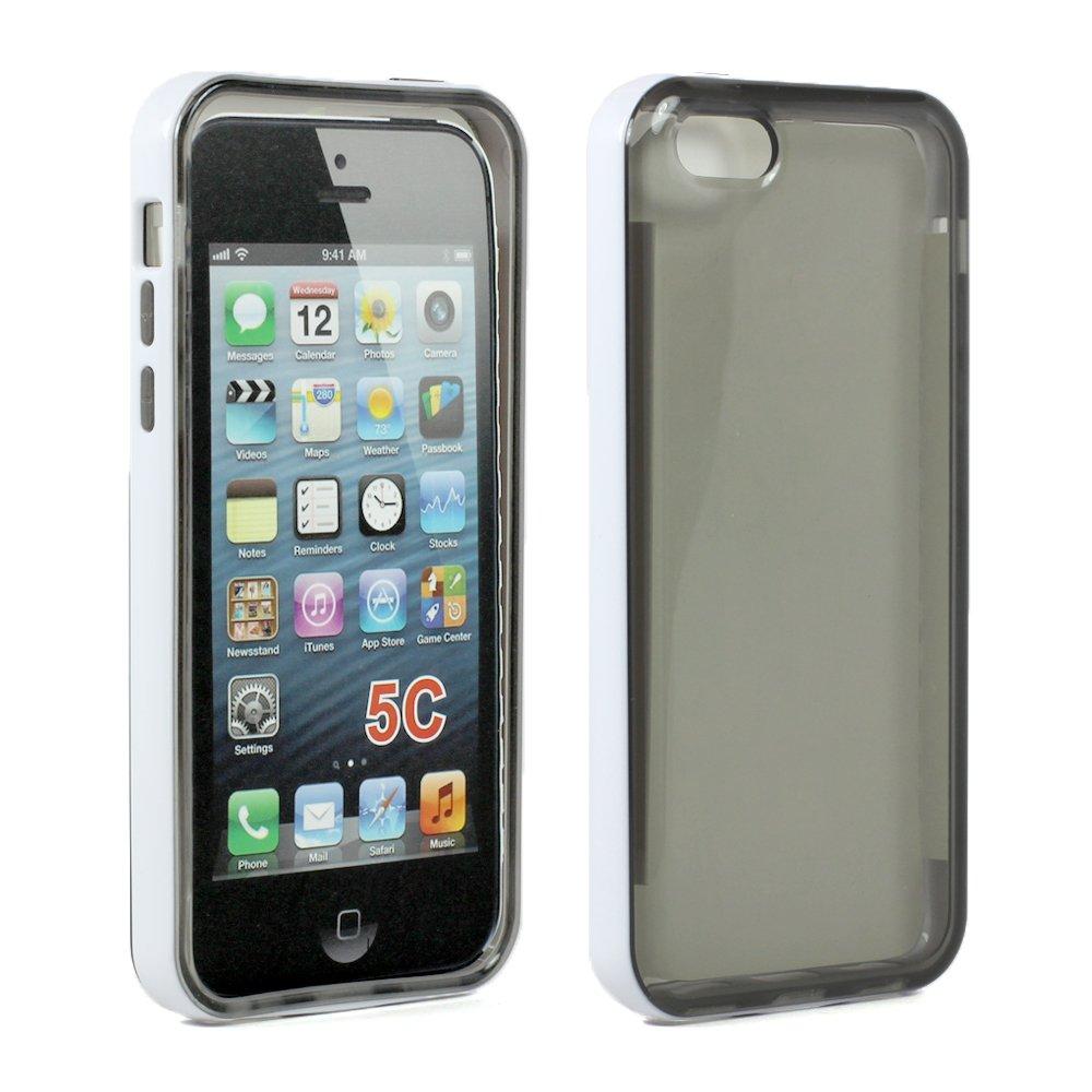 Wholesale Apple iPhone 5C Clear Gummy Bumper Hybrid Case ...