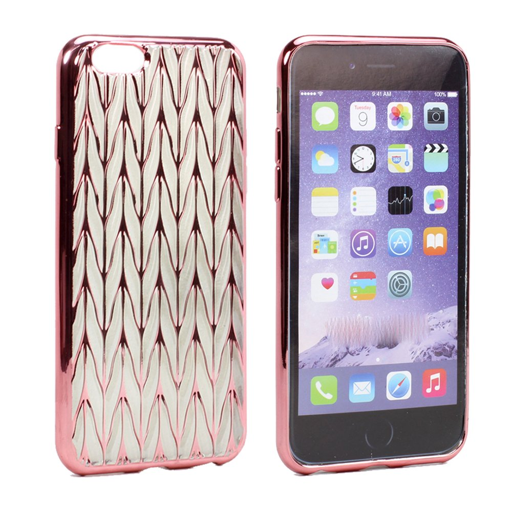 wholesale iphone 6s 6 plus 5 5 club electroplate soft hybrid case rose gold clear. Black Bedroom Furniture Sets. Home Design Ideas