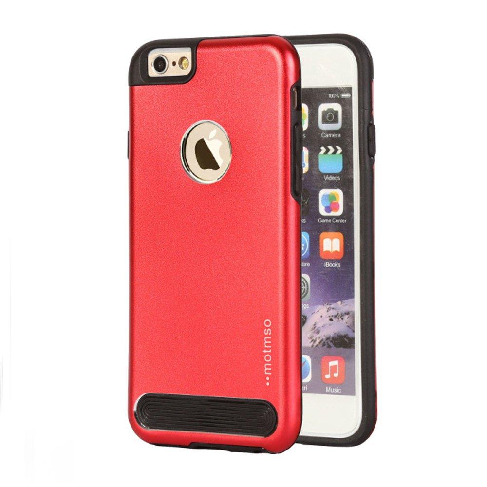 wholesale apple iphone 6 4 7 aluminum armor hybrid case red. Black Bedroom Furniture Sets. Home Design Ideas