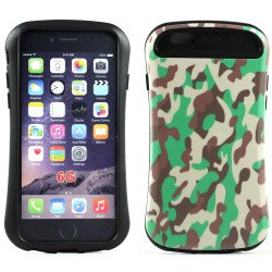 Apple iPhone 6 4.7 Design Candy Shell Hybrid Case (Camouflage Green)