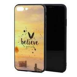 iPhone 8 / 7 Design Tempered Glass Hybrid Case (Believe)