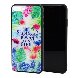 iPhone 8 / 7 Design Tempered Glass Hybrid Case (Gift)