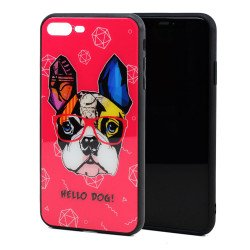 iPhone 8 / 7 Design Tempered Glass Hybrid Case (Hello Dog)