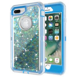 iPhone 8 Plus / 7 Plus / 6S Plus / 6 Plus Star Dust Clear Armor Defender Case (Blue)