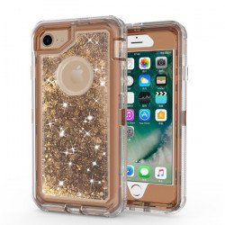 iPhone 8 Plus / 7 Plus / 6S Plus / 6 Plus Star Dust Clear Armor Defender Case (Bronze Gold)