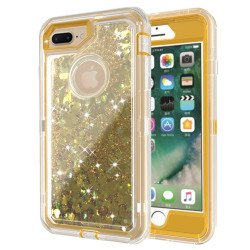 iPhone 8 Plus / 7 Plus / 6S Plus / 6 Plus Star Dust Clear Armor Defender Case (Champagne Gold)