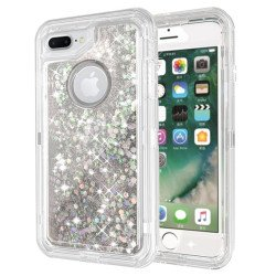 iPhone 8 Plus / 7 Plus / 6S Plus / 6 Plus Star Dust Clear Armor Defender Case (Silver)