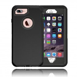 iPhone 8 Plus / 7 Plus / 6S / 6 Plus Premium Armor Defender Case (Black Black)