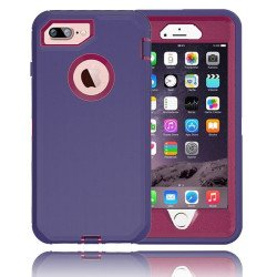 iPhone 8 Plus / 7 Plus / 6S / 6 Plus Premium Armor Defender Case (Purple Hot Pink)