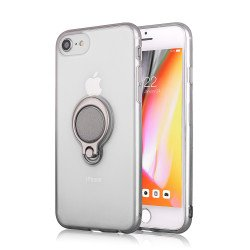 Apple iPhone 8 Plus / 7 Plus Ring Stand Transparent Case with Metal Plate (Clear)