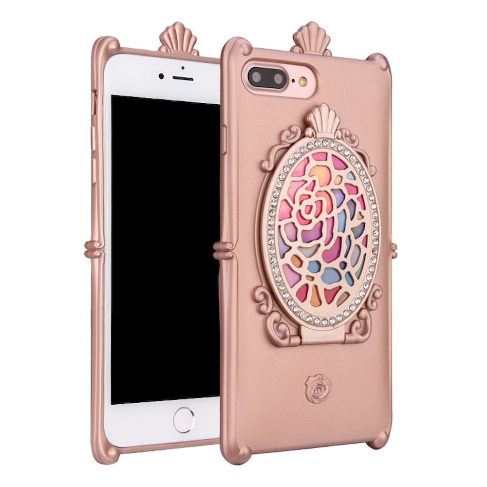 Wholesale iPhone 7 Plus Rose Diamond Mirror Case (Rose Gold)