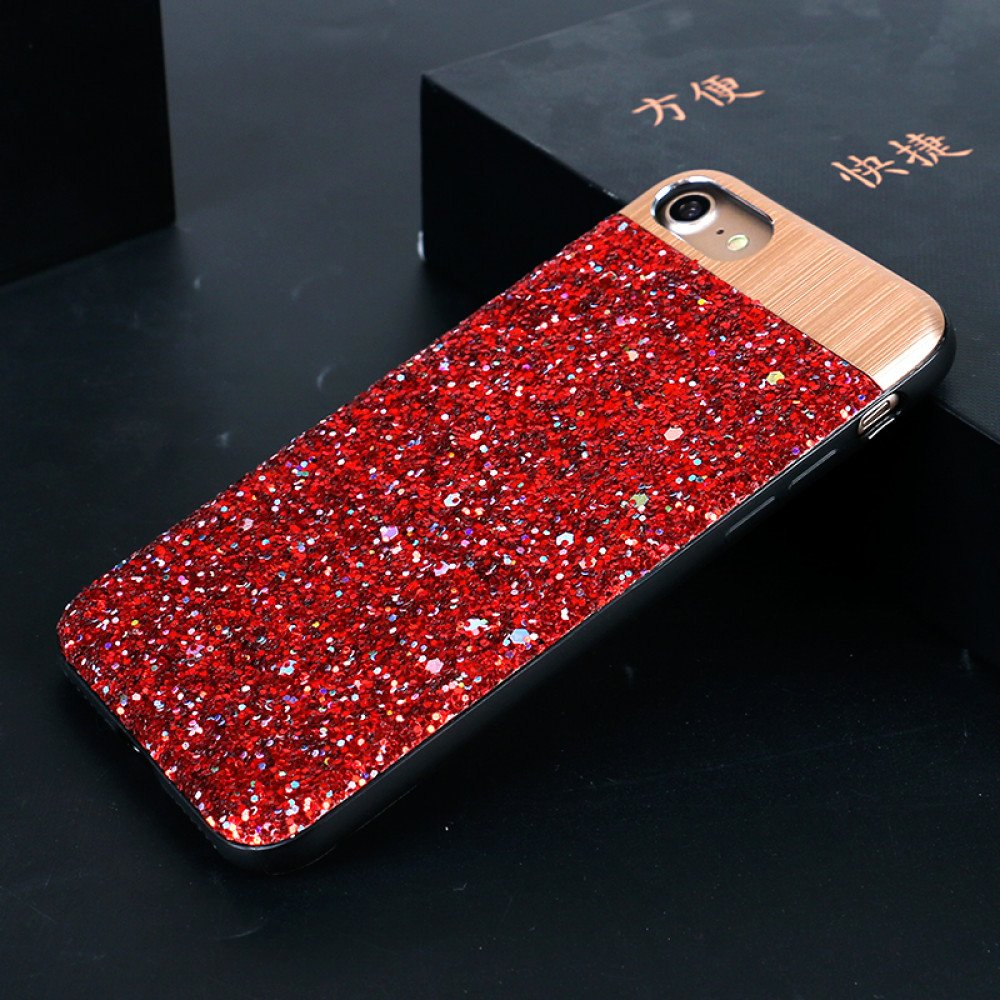 new style 3ce85 37fdb Wholesale iPhone 8 Plus / 7 Plus Sparkling Glitter Chrome Fancy Case ...
