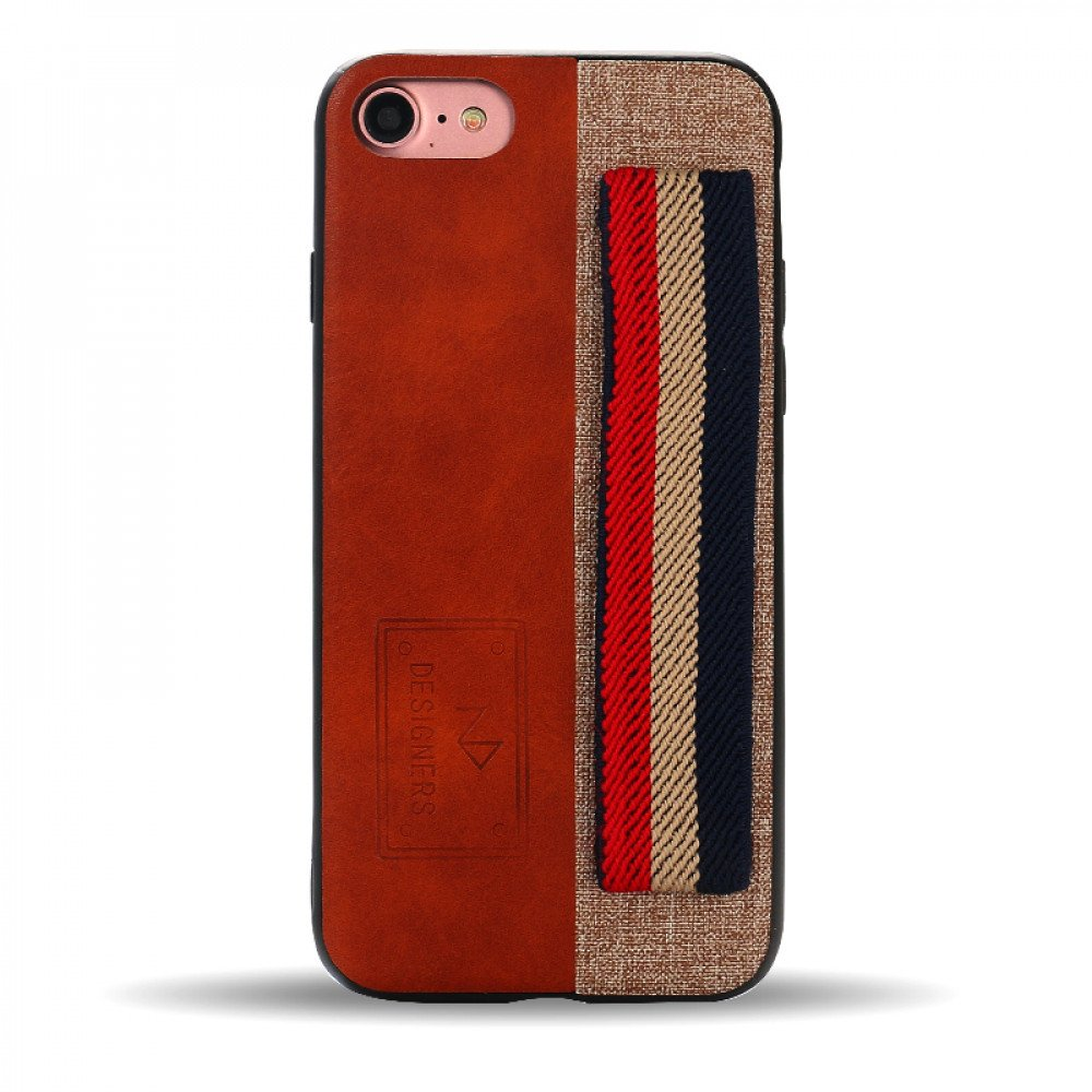 Wholesale Iphone 8 7 Striped Hand Strap Grip Holder Pu