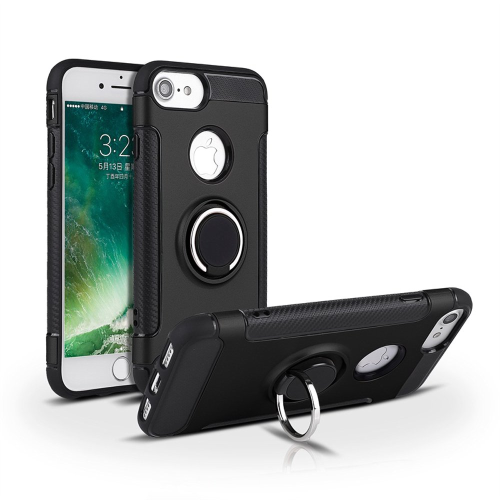 best sneakers e8954 528d2 Wholesale iPhone 8 Plus / 7 Plus 360 Rotating Ring Stand Hybrid Case ...