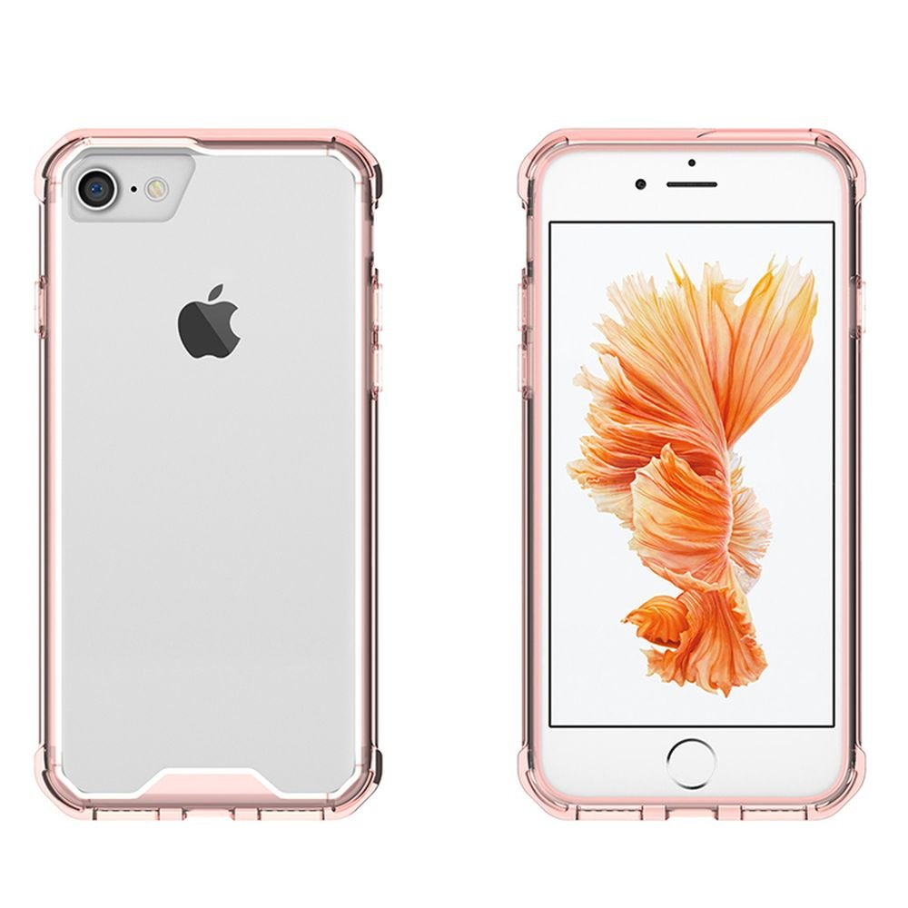 Wholesale Iphone 7 Air Hybrid Clear Case Rose Gold