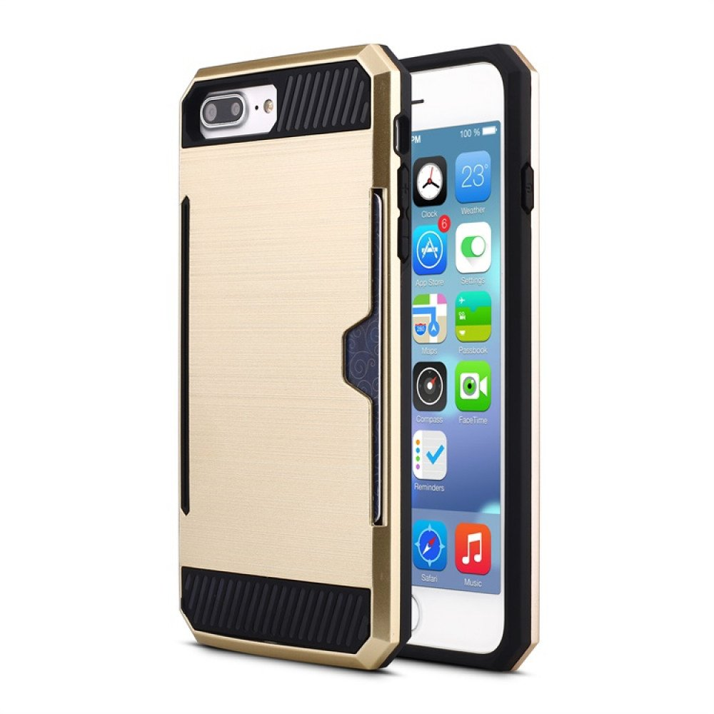 cheap for discount 2060d bdf02 Wholesale iPhone 7 Plus Credit Card Armor Hybrid Case (Champagne Gold)