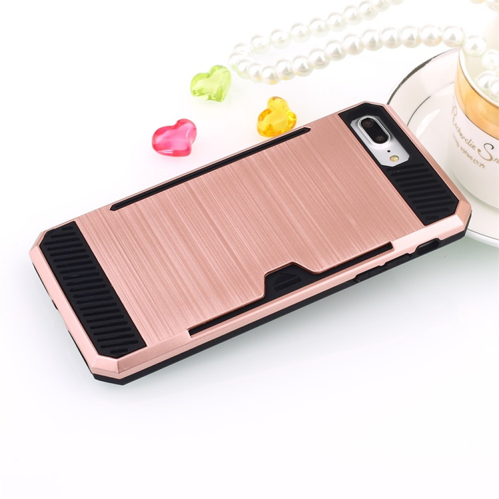 free shipping fcfd8 f5a69 Wholesale iPhone 7 Credit Card Armor Hybrid Case (Rose Gold)
