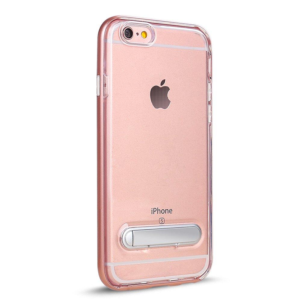 Wholesale apple iphone 8 plus 7 plus clear armor bumper kickstand case rose gold - Iphone 8 plus case ...